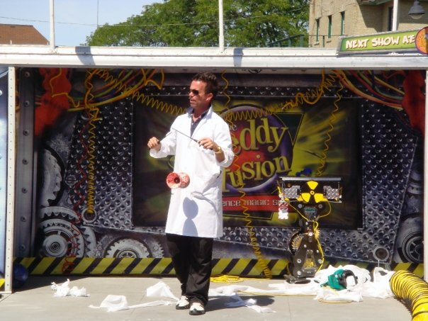New design of the Freddy Fusion Science Magic Mobile stage will be announced shortly. Bookings through Andrew Pogson of FUSION Talent Group